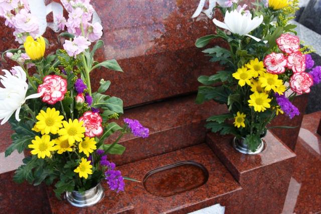 墓参りの花