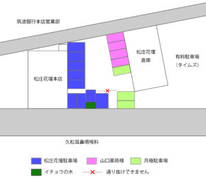 松庄花壇駐車場図面